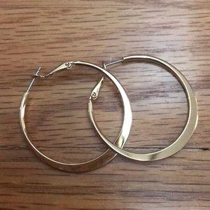 Lia Sophia gold hoop earrings
